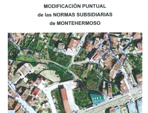 MODIFICACIÓN PUNTUAL NN.SS. MONTEHERMOSO